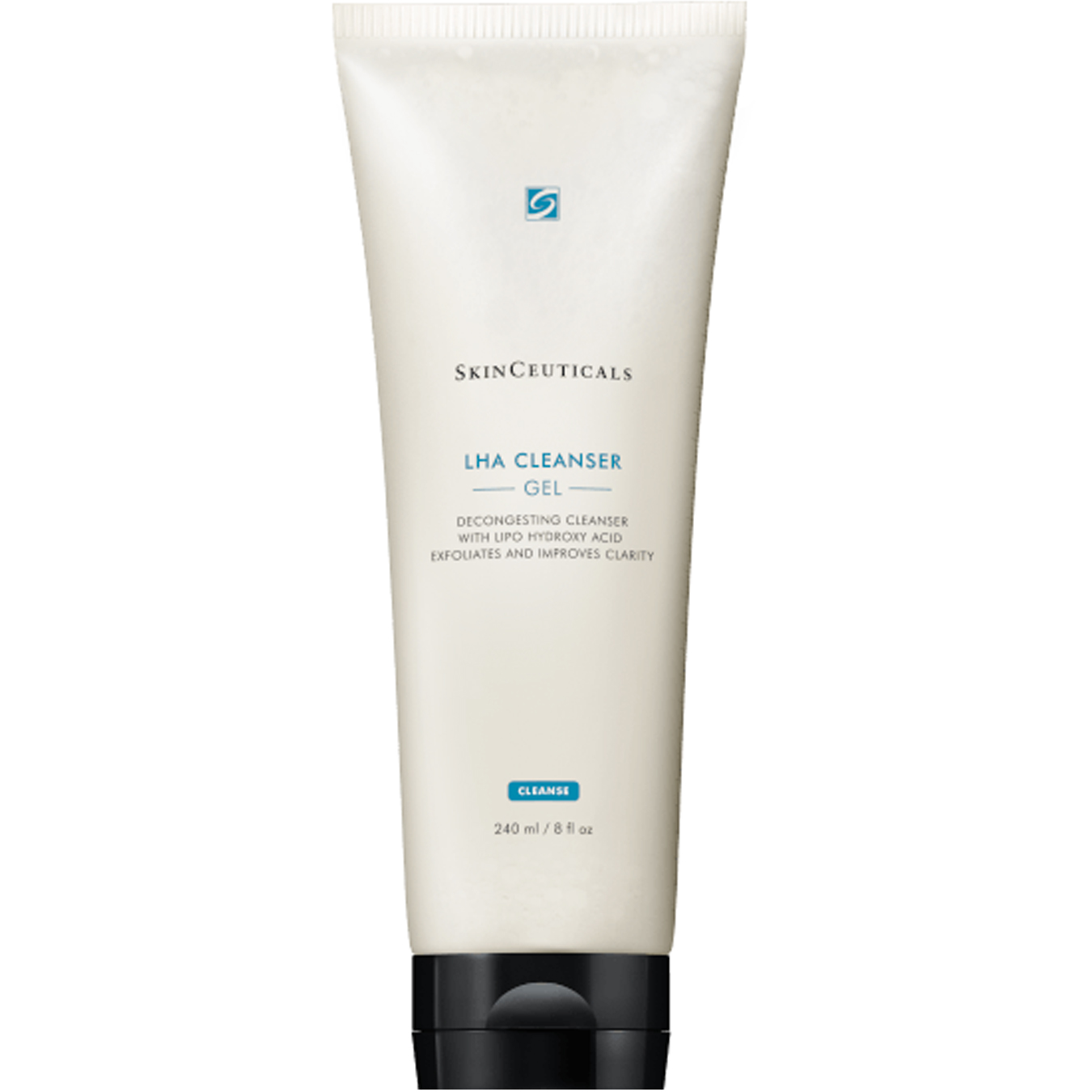 Exfoliating cleanser with lipo-hydroxy acid foams to decongest skin and improve clarity