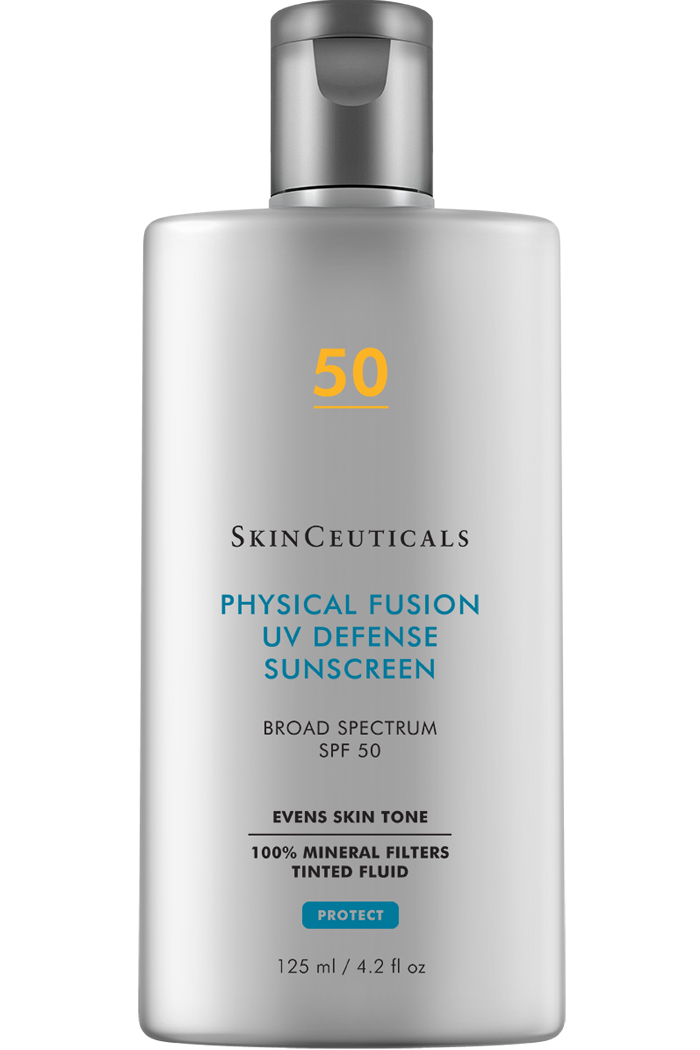 SkinCeutical tinted, broad spectrum sunscreen fluid.