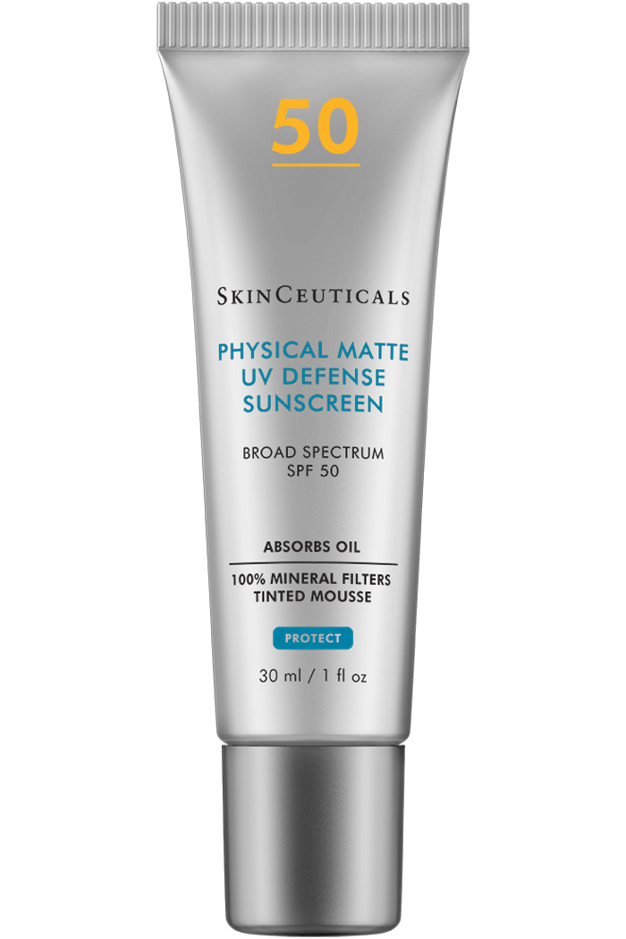 Tinted, broad spectrum sunscreen